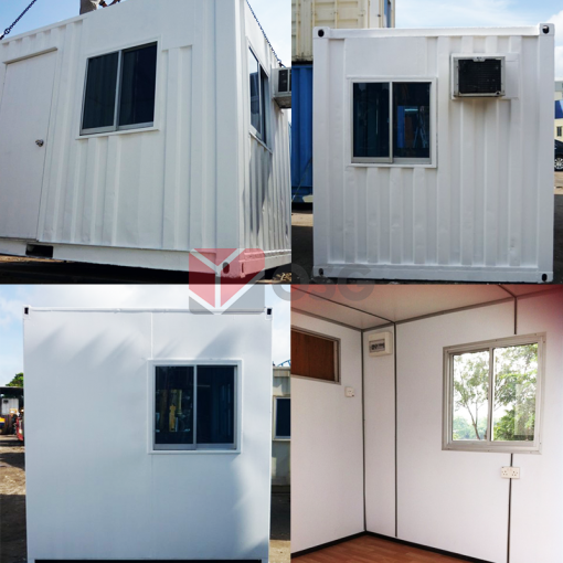 office container, fitted container, 10ft container, site office, temporary office, mobile office, office container rental, rent container, used office container, recon office container, office container singapore