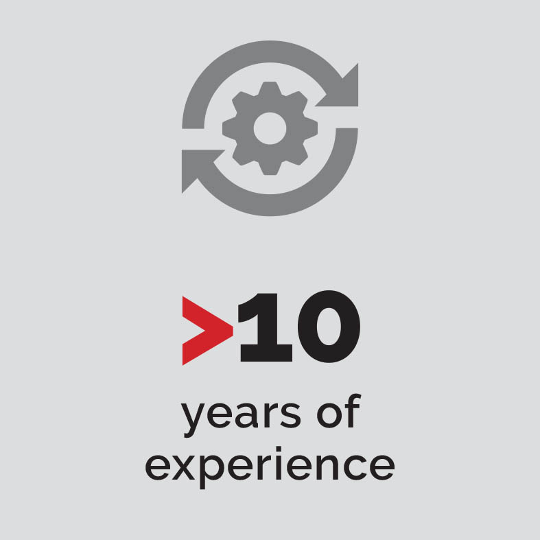 More than 10 years experience