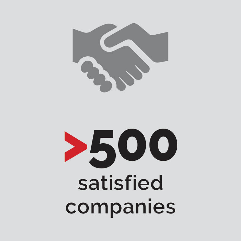 More than 500 satisfied companies