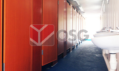 toilet container, shipping container, cargo, storage, shipping, general purpose, high cube, reefer, open top, loading, customisation, business, office, toilet